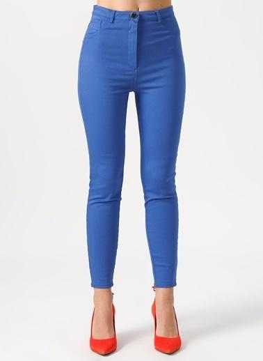 Random Slim Fit Pantolon Mavi